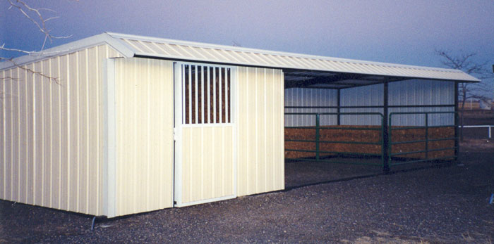 Metal Loafing Shed Oklahoma